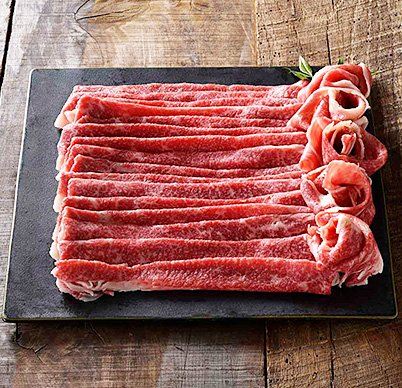A5ランク黒毛和牛の霜降り部位すき焼きバラ肉スライス