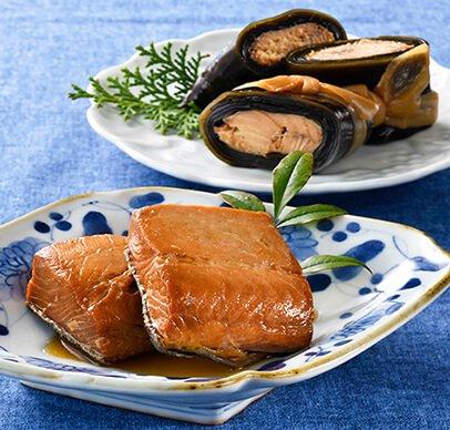 鮭巻昆布・秋鮭の焼漬セット