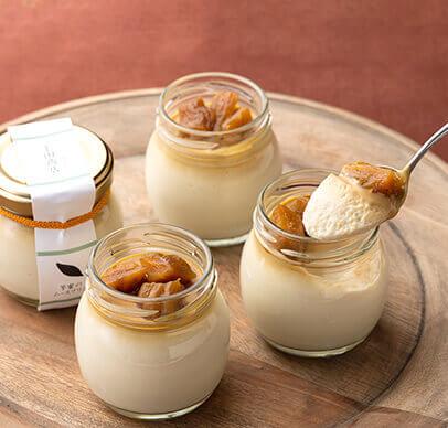 芋蜜のムースプリン