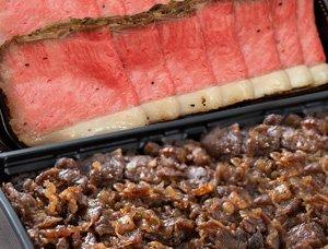 仙台牛ローストビーフとすき焼き煮