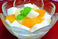 牛乳寒天のフルーツレシピ