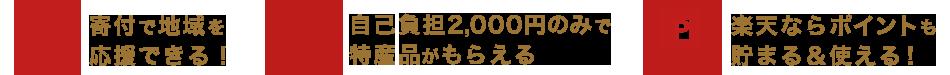 寄付で地域を応援できる! 自己負担2,000円のみで特産品がもらえる 楽天ならポイントも貯まる&使える!