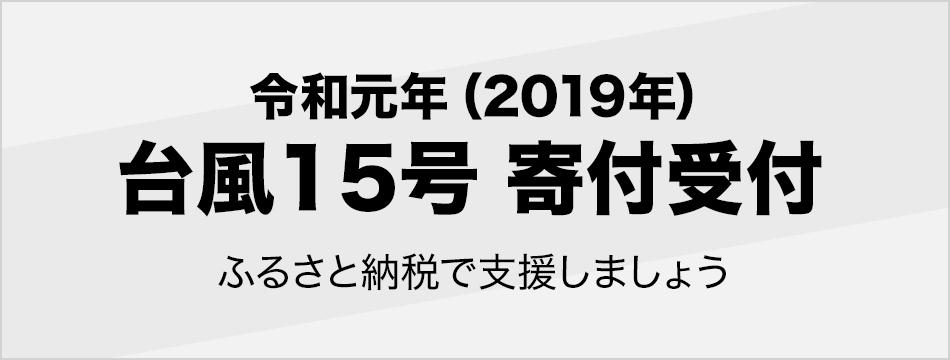 令和元年(2019年)台風15号 寄付受付 ふるさと納税で被害を受けた地域を支援しましょう