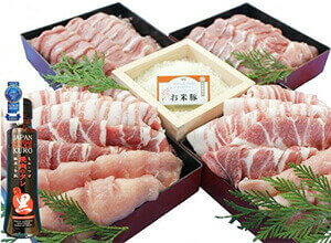 都城産「お米豚」3.1kgセット(黒たれつき)