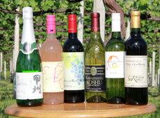 山梨ワインを楽しめるタイプの違う6品種のチョイス