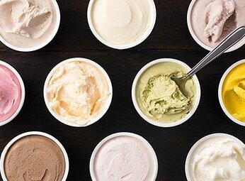 牧場しぼりたて牛乳使用、口当たりが良くミルク感満載!ドリームヒルの絶品アイス