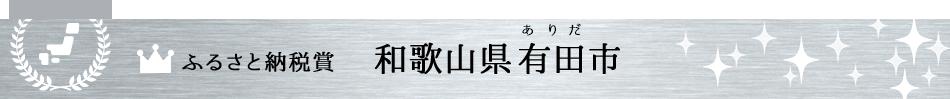 ふるさと納税賞 和歌山県有田市