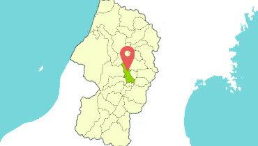 寒河江市地図