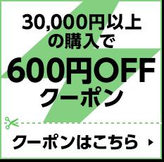 30,000円以上の購入で600円OFFクーポン クーポンはこちら