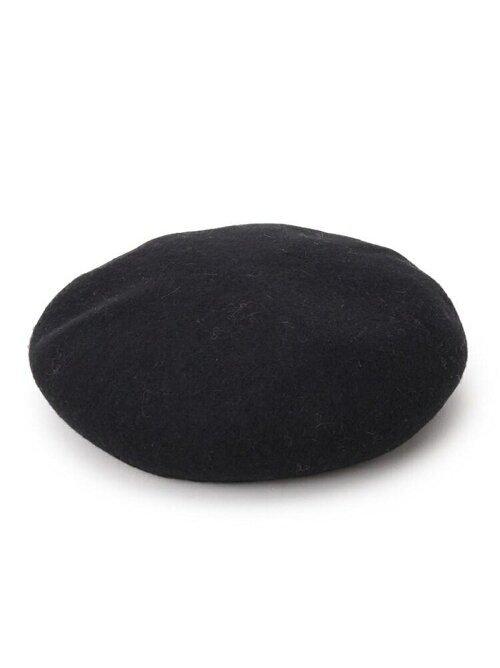 ウール混リブベレー帽