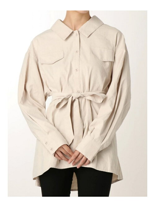 【C】バックシャンロングシャツ