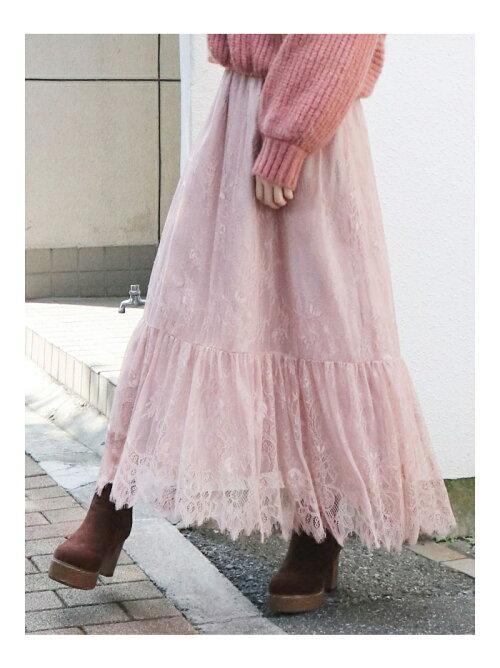 【S】レースマキシスカート
