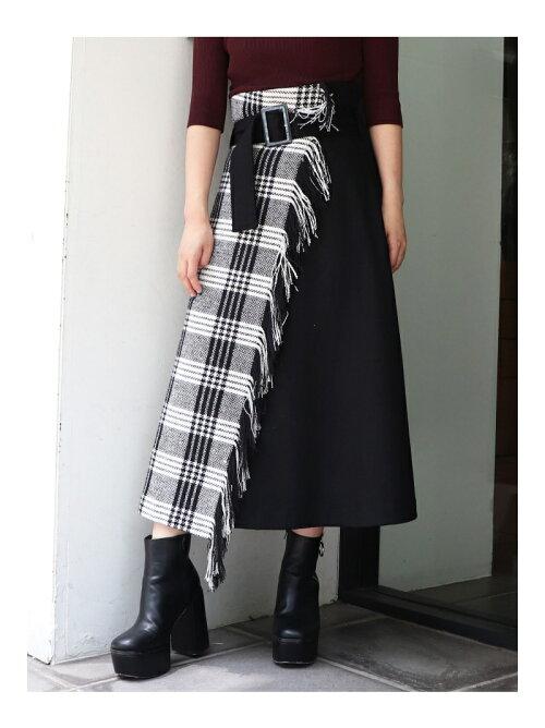 ストールフレアスカート