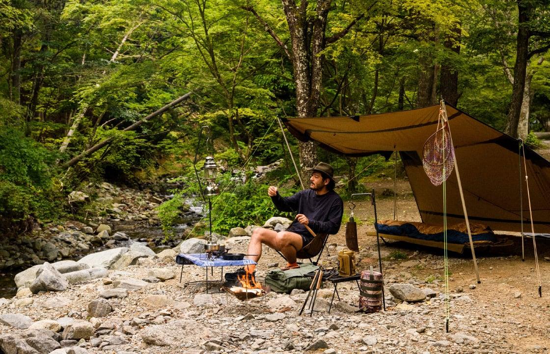 特別なことをせずに装備も最低限 孤独を楽しむ贅沢なソロキャンプ&渓流釣りに行こう!
