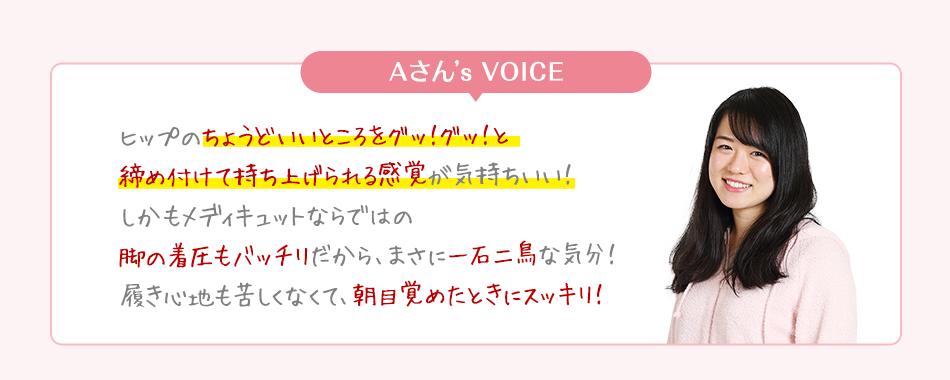 Aさん's VOICE