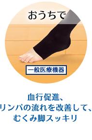 血行促進、リンパの流れを改善して、むくみ脚スッキリ