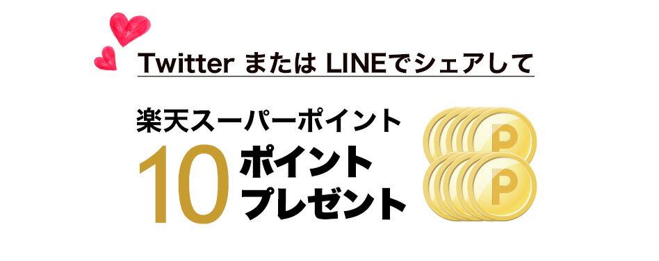 Twitter または LINEでシェアして楽天スーパーポイント10ポイントプレゼント