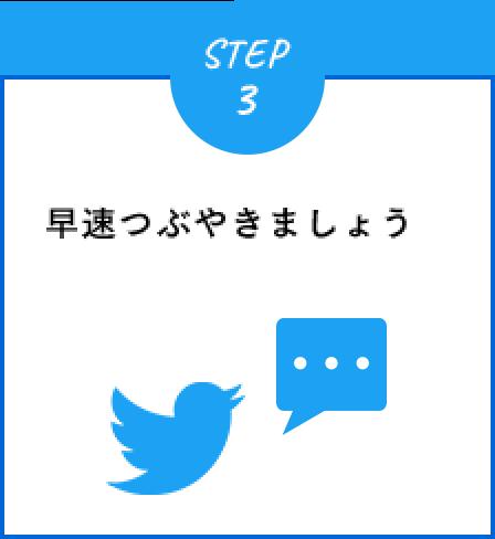 STEP3 早速つぶやきましょう