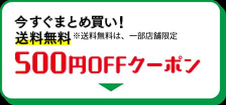 今すぐまとめ買い!送料無料 500円OFFクーポン