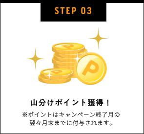 STEP03 山分けポイント獲得!