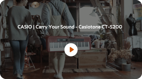 CASIO Carry Your Sound-Casiotone CT-S200