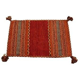 手織りアジアンキリムマット