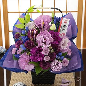 祝!77歳 喜寿・紫色のアレンジ