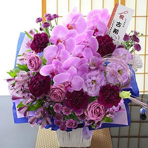 豪華絢爛!70歳古希 紫のアレンジ