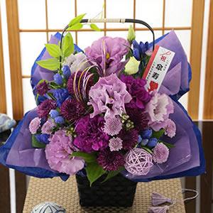 祝!80歳 傘寿・紫色のアレンジ