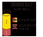 THUNDER BOLT - サンダーボルト / リアルゴールド ミニッツメイドピンクグレープフルーツ・ブレンド