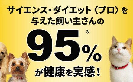 サイエンス・ダイエット <プロ>を与えた飼い主さんの95%が健康を実感!