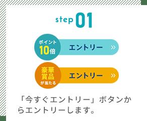 step01 「今すぐエントリー」ボタンからエントリーします。