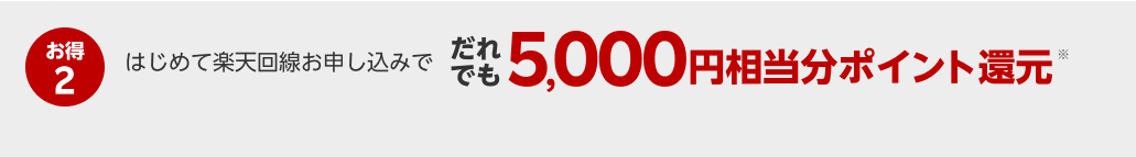だれでも5,000円相当分ポイント還元