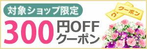 対象ショップ限定 300円OFFクーポン