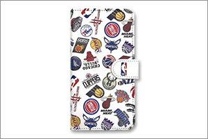 NBA ALL OVER ロゴ 手帳型スマホカバー