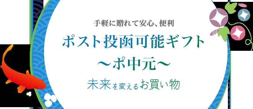 お中元・夏ギフト特集 ポスト投函ギフト~ポ中元~ 未来を変えるお買い物