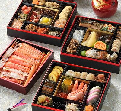 北海道の高級海鮮【カニ付き】おせち4人前「あつもり」