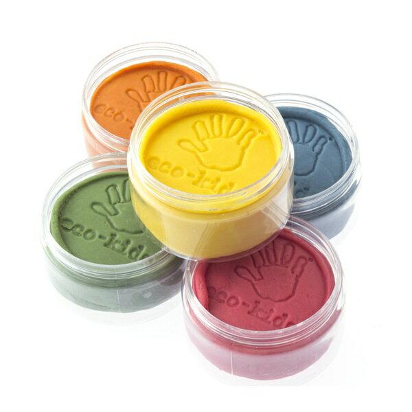 オーガニック野菜とフルーツの粘土 エコキッズ粘土5色入