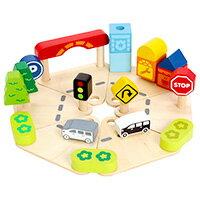木のおもちゃ タウン&カントリープレイセット