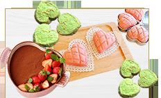 バレンタインレシピ(ラッピング・材料)
