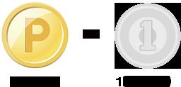 1ポイント = 1円(相当)
