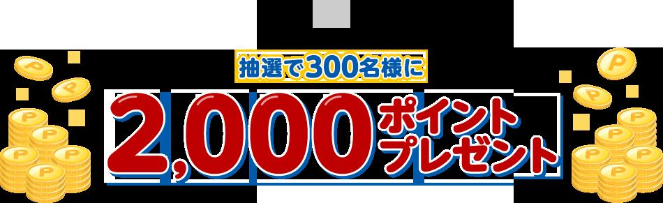 抽選で300名様に2,000ポイントプレゼント
