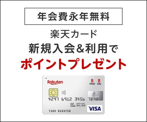 [年会費永年無料]楽天カード 新規入会&利用でポイントプレゼント