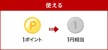 【使える】1ポイント1円相当で使える!