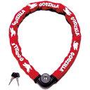 ゴジラ GODZILLA CGL-120-R GODZILLA センター式極太チェーンロック レッド 165-00101