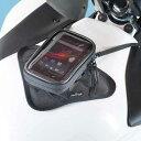 スマホポケットクイック ブラック 0.32L(マグネット式スマートフォンタンクバッグ) MOTOFIZZ(モトフィズ)