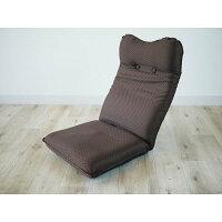 ズレ落ち防止加工折りたたみ座椅子 ブラウン TT-05BR