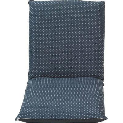 ティアンドエヌ 低反発和風座椅子 ブルー ST-010BL