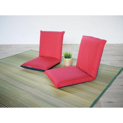 低反発和風座椅子2個組 ブルー ST-010BL-2