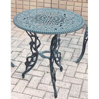 【野外用家具】アルミ鋳物テーブル(中)(13044)